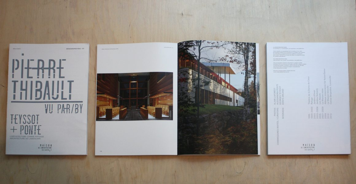 Monographie MAQ 03 – Pierre Thibault vu par Georges Teyssot et Alessandra Ponte